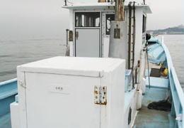 片名から出航の釣り船・松盛丸のトイレの写真